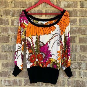 Trina Turk colorful top sz S